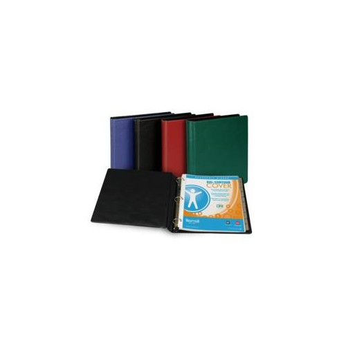Binder, 3 ring, vinyl, 1 in, asst colors