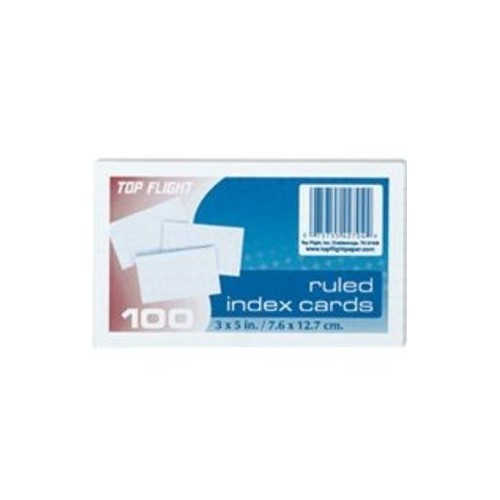 Index Cards, 4x6 in., ruled, white, 100ct.