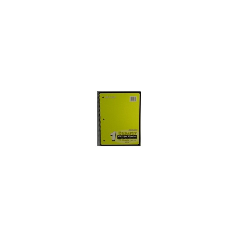 Spiral Notebook, 70 ct, yellow, wide rule