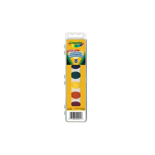 Paints watercolors washable oval pan brush Crayola