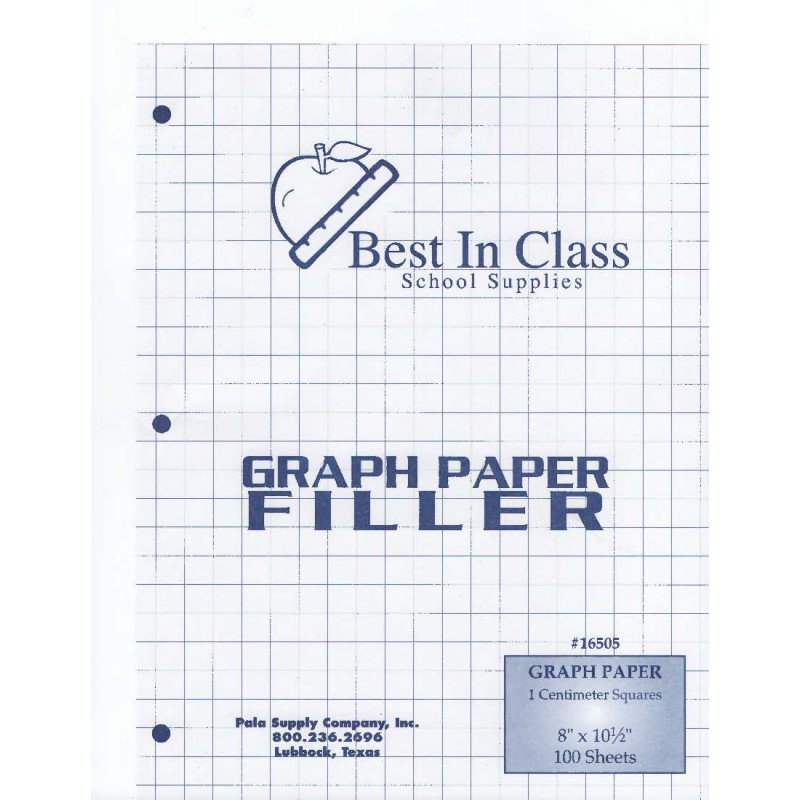 Graph Paper 1 centimeter(cm) square 100 sheets