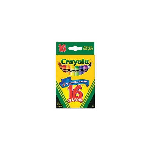 Crayons, tuck box, 16 count Brand: Crayola