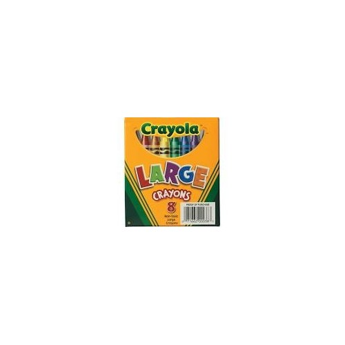 Crayons, large size, tuck box, 8 count Brand: Crayola