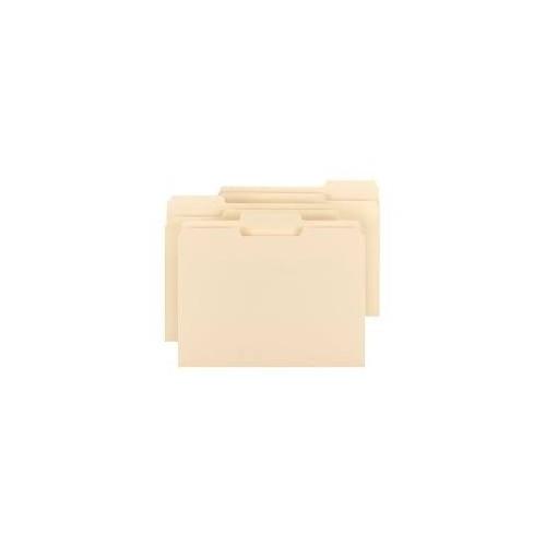 File folder, manila, letter 1/3 cut, each