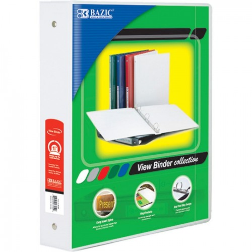 Binder 3 ring Clear view 2 inch white Brand Best in Class