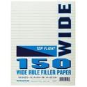 Filler Paper, wide rule, 10.5 x 8, 150 ct.