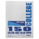 Filler Paper, college, 10.5 x 8, 150 ct.