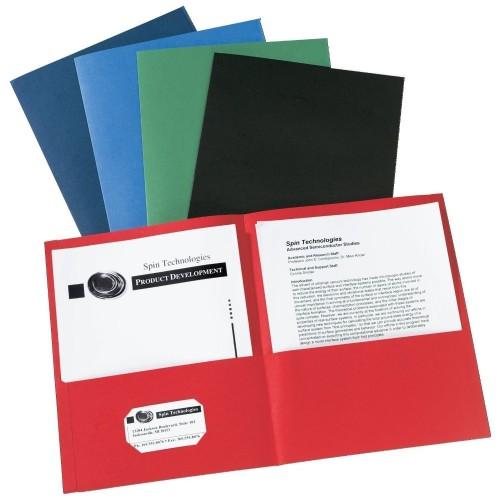 folders, plain 2 pockets