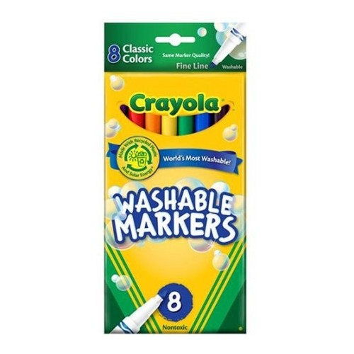 Markers, fine, classic colors, 8 ct.