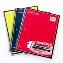 Spiral Notebook, wide, 1 subject,100ct, asst. color