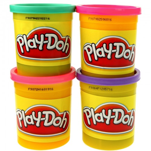 Play Doh, 4 pack, 4 oz. cans, asst. colors