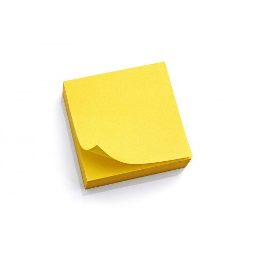 Sticky notes, 3x3, yellow, lined, 100 ct pad