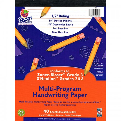 Tablet, 1/2 in, 8x10.5 in, red bl, 40ct (DN Gr. 2,3) (ZB Gr. 2)