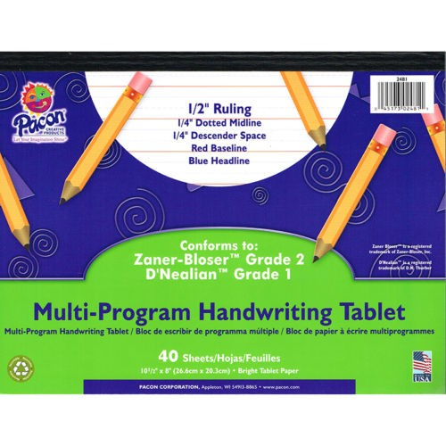 PACON MULTI-PROGRAM HANDWRITING TABLET