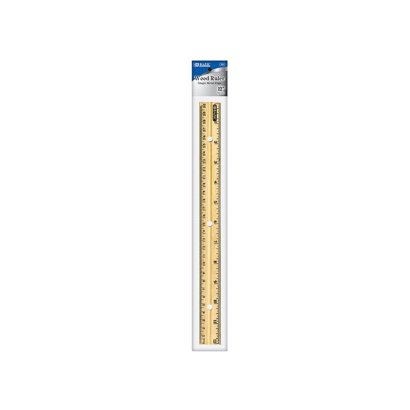 ruler 12 inch wood incm 3holes brand best in class