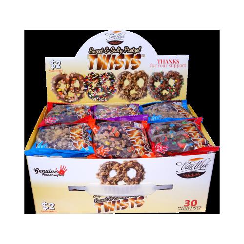 Pretzel Twists Fundraiser $2.00 Seller 30 count box