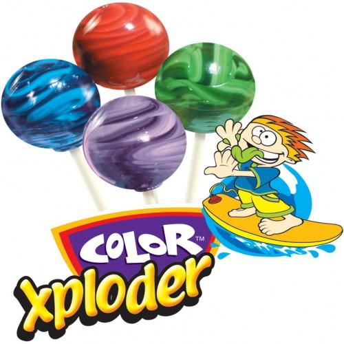 Color Xploder Lollipops 640 count master case
