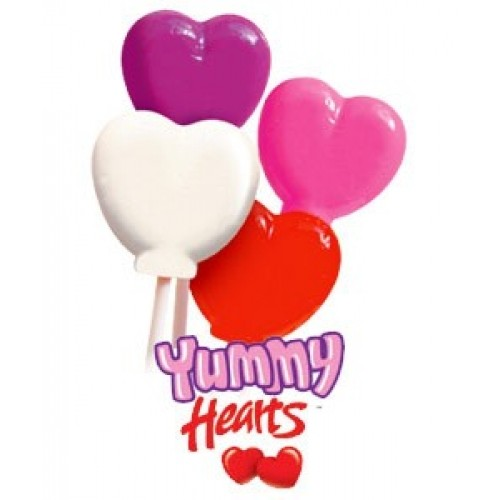 Yummy Hearts Lollipops 640 count master case