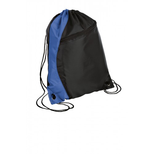 a Port Authority® - Colorblock Cinch Backpack