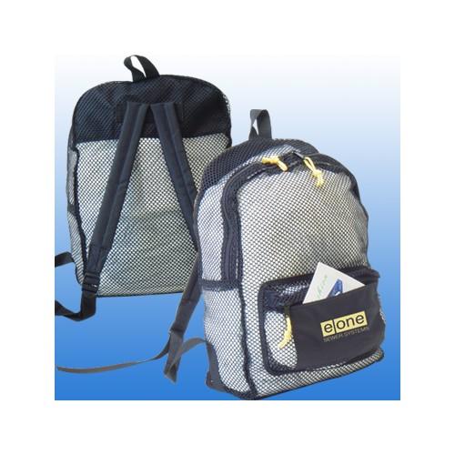 Nylon Mesh See-Thru Backpack