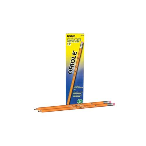 Pencils, no. 2, sharpened, Dixon Oriole