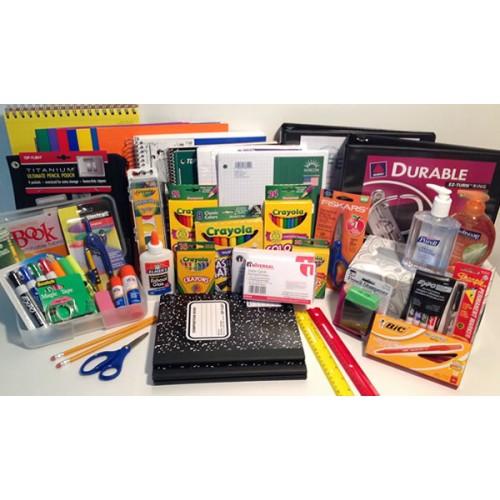 1st Grade School Supply Pack mark white