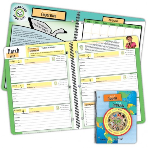 Planner, 2020D Elementary Character Student Planner Dated