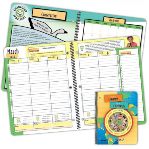 Planner 1090D Elementary Character Student Planner Dated