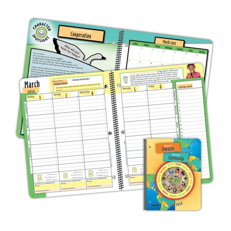 1090D Elementary Character Student Planner Dated