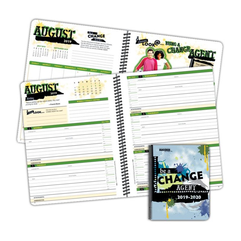 750D Middle School Good Character Student Planner