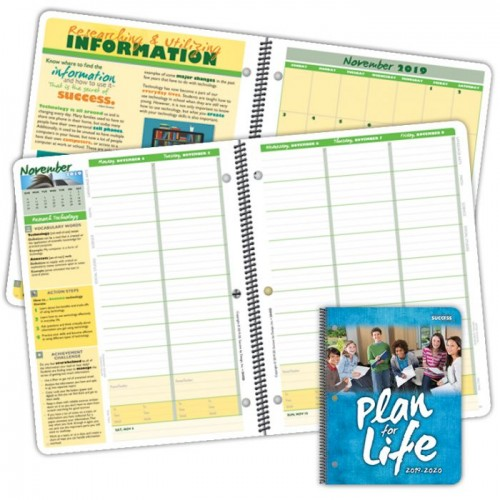 Planner 2045D Plan for Life Middle School Student Planner Dated