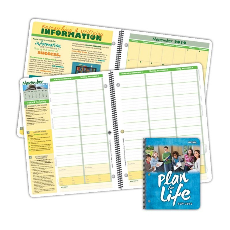 2045D Elementary Character Student Planner Dated