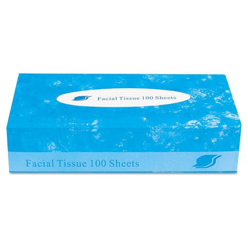 Tissue facial, flat box, 2-ply, 100 ct