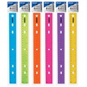 Ruler 12 inch plastic in/cm asst colors 3-hole 1 each