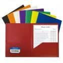 Folder plastic 2 pocket assorted colors