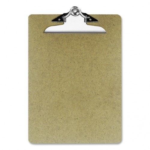 Clipboard, hardboard, letter size, brown