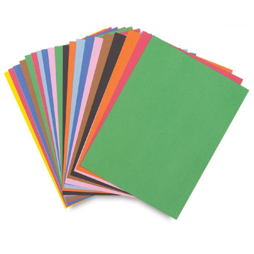 Construction Paper, assorted Colors, 9 in x 12 in, 50 count