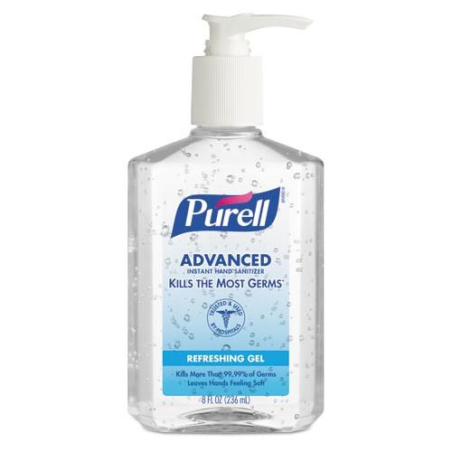 Hand Sanitizer, 8oz bottle Purell