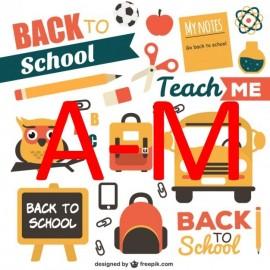 School Last Names A - M