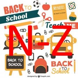 School Last Names N - Z